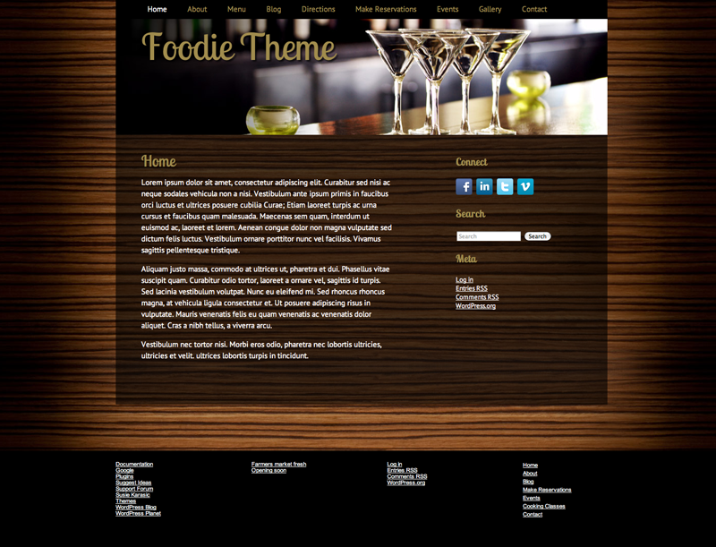 Foodie WordPress Theme